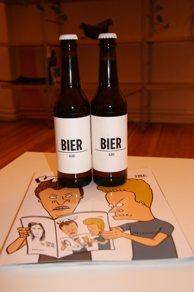 Bottles of BIER, produced by a Berlin Brewery with a no advertising policy