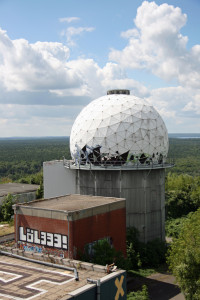 A secondary tower From The Main Roof at Teufelsberg
