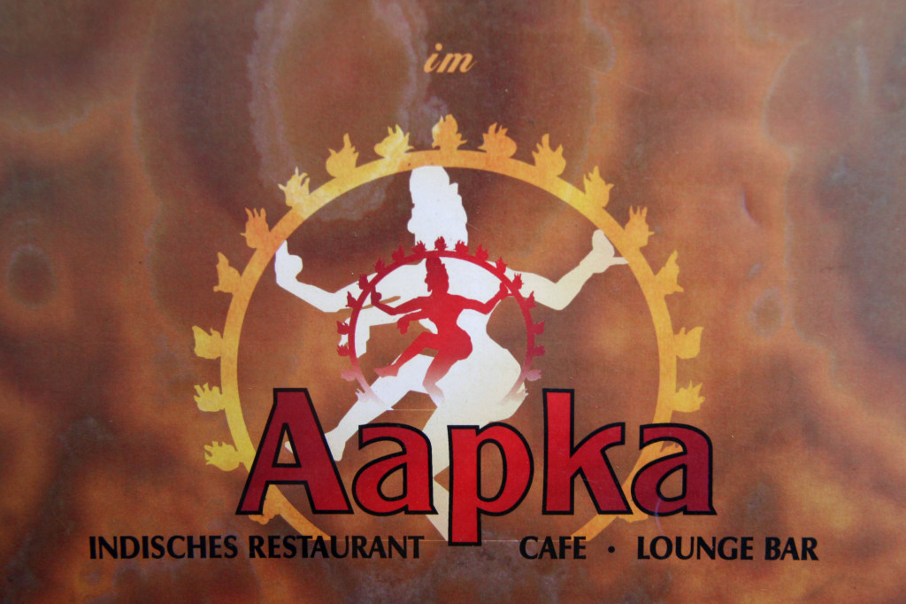 The logo of Aapka Indisches (Indian) Restaurant in Berlin from the menu