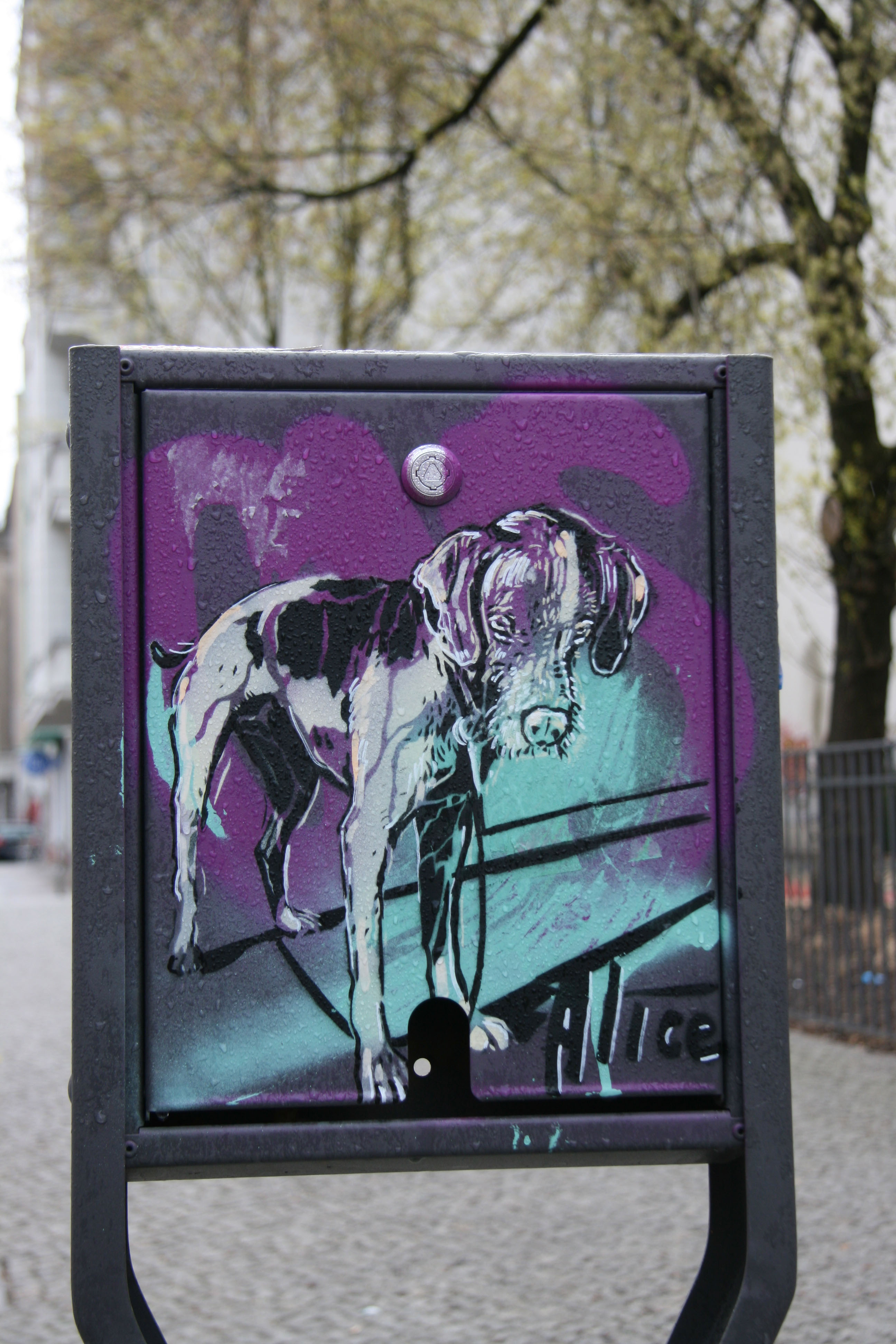 How Much Is That Doggy?: Street Art by AliCé (Alice Pasquini) in Berlin