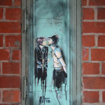 Kiss Me You Fool: Street Art by AliCé (Alice Pasquini) in Berlin