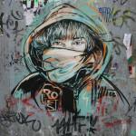 Nina Guémy Portrait: Street Art by AliCé (Alice Pasquini) in Berlin