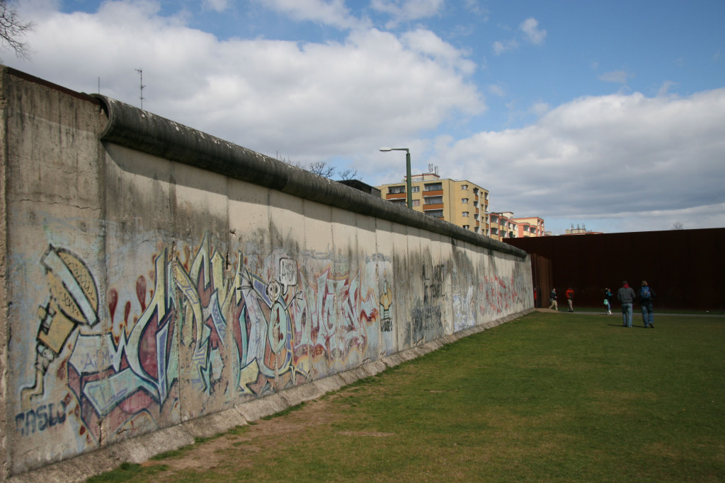 The Berlin Wall and Monument in Memory of the Divided City and the Victims of Communist Tyranny at Gedenkstätte Berliner Mauer on Bernauer Strasse