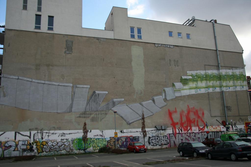 Berlin Wall: Street Art by BLU in Berlin