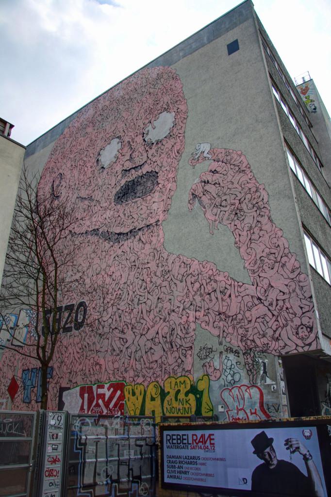 Big Baby: Street Art by BLU in Berlin