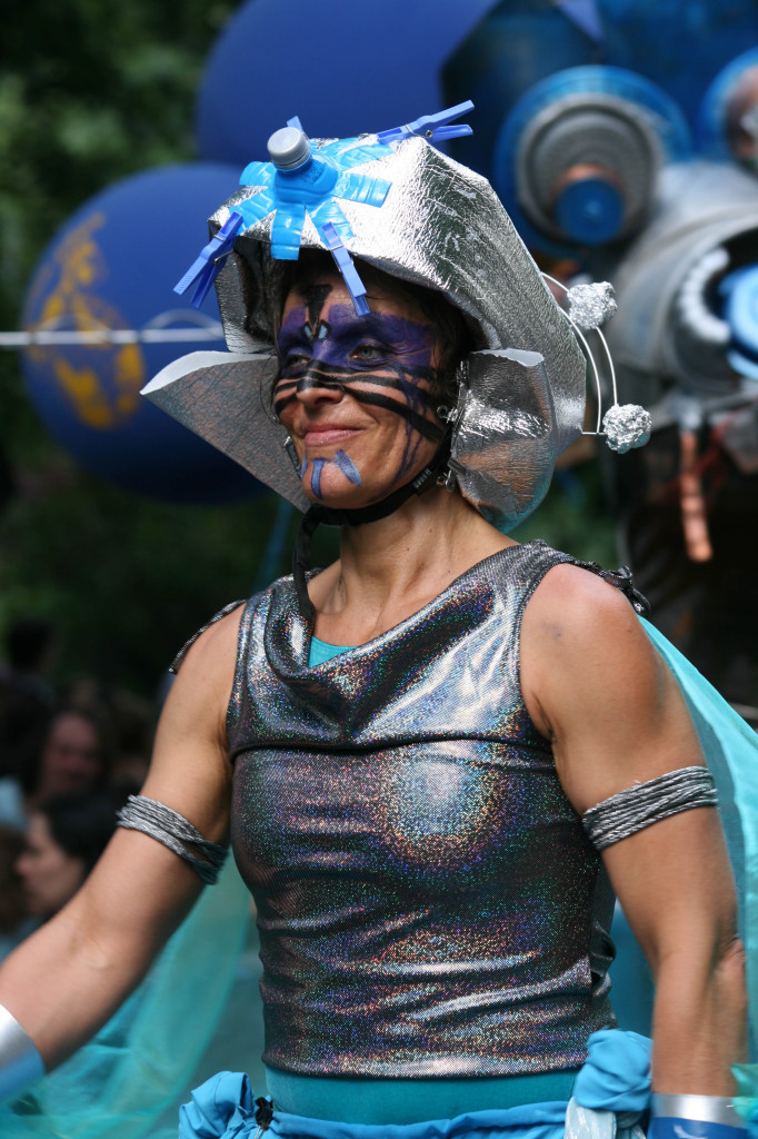 Part of the Blue Dragon parade at Karneval der Kulturen (Carnival of Cultures) in Berlin