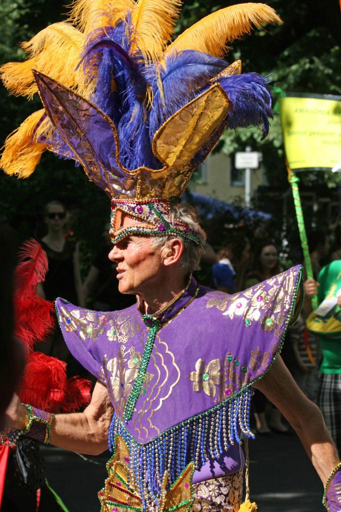 A camp costume in the parade at Karneval der Kulturen (Carnival of Cultures) in Berlin