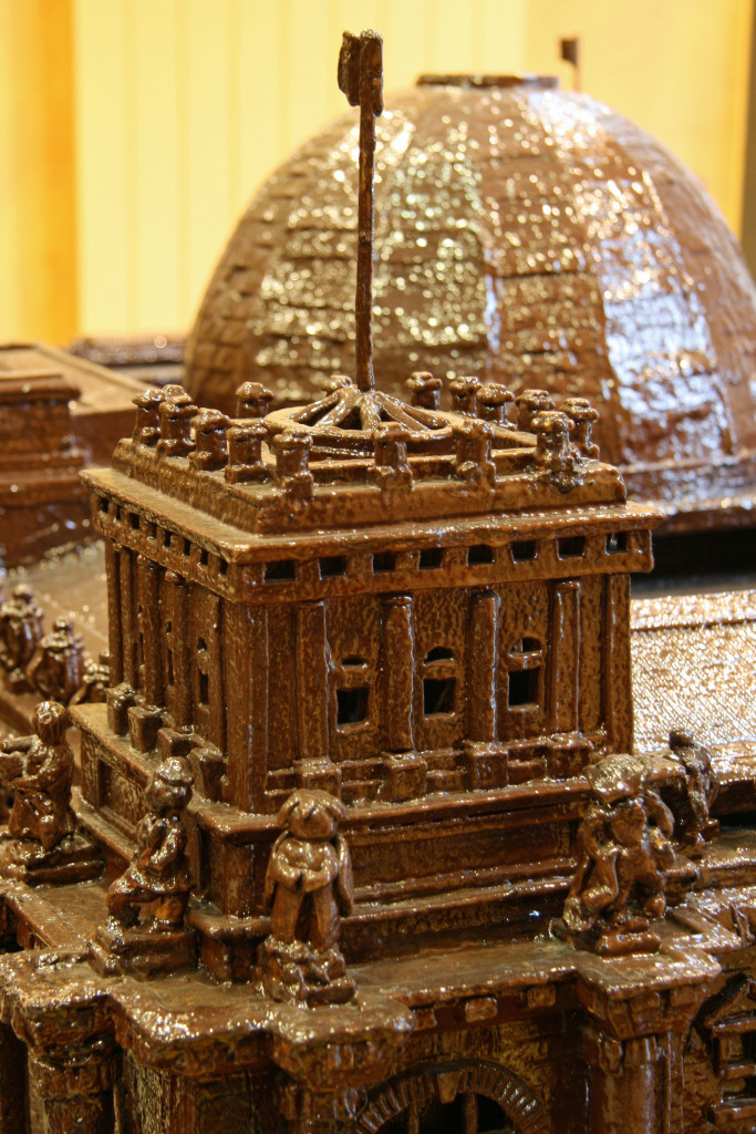 The Reichstag made from chocolate at Fassbender & Rausch Chocolatiers on the Gendarmenmarkt in Berlin