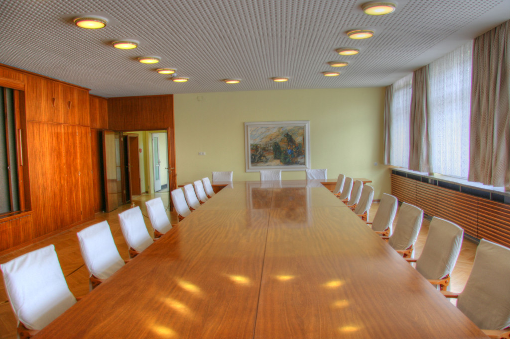 A conference room next to Erich Mielke's office in The Stasi Museum in Berlin