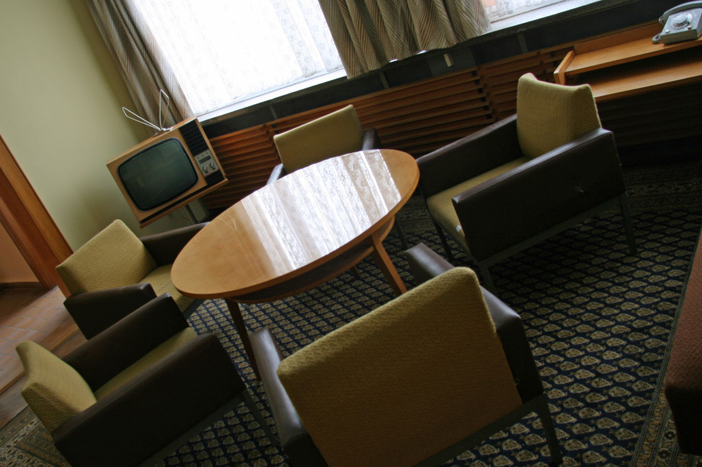 The lounge area next to Erich Mielke's office in The Stasi Museum in Berlin