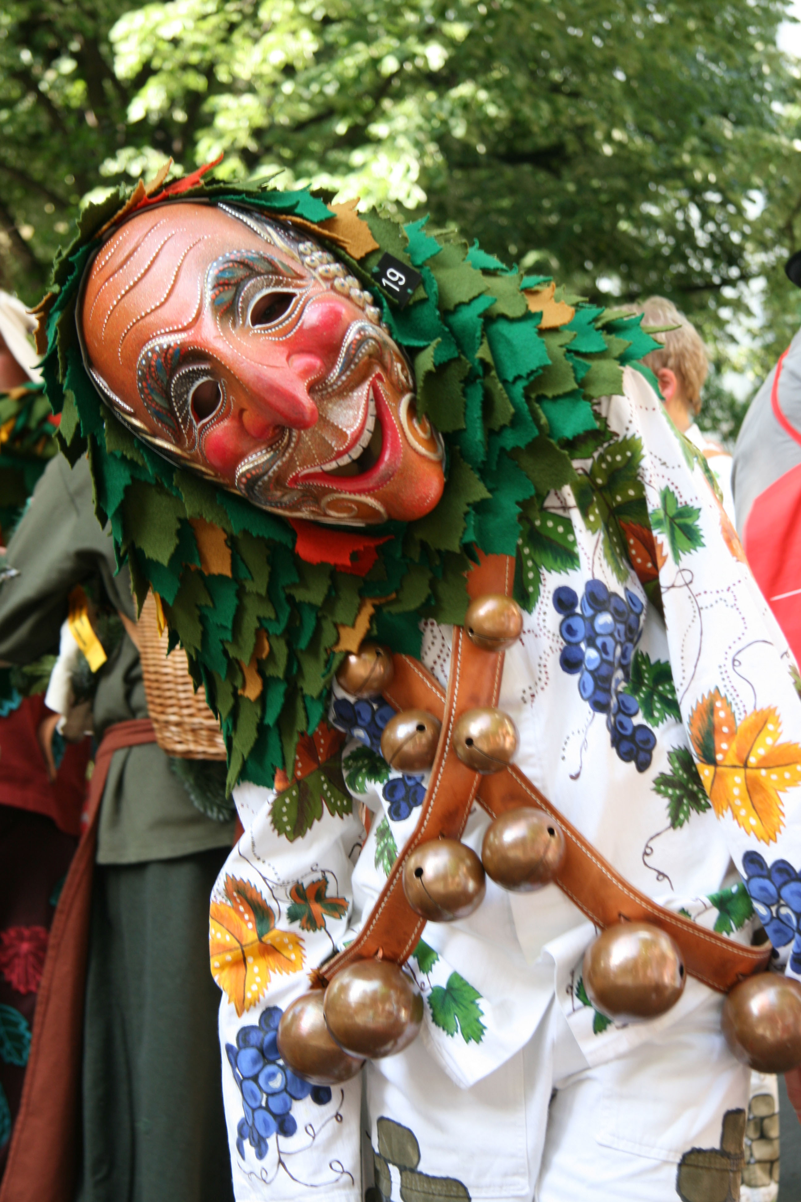 A forest creature in the parade at Karneval der Kulturen (Carnival of Cultures) in Berlin