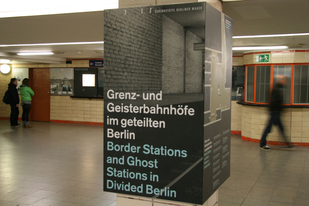 The Ghost Stations and Border Stations in Divided Berlin exhibition at Nordbahnhof