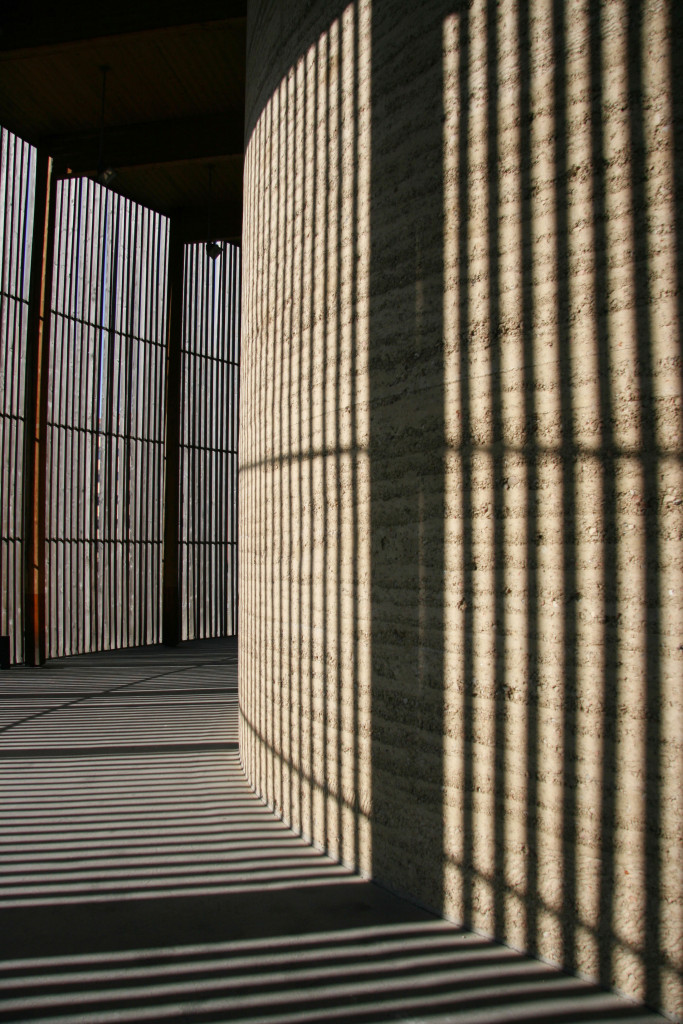 The Inner Wall of the Chapel of Reconciliation at Gedenkstätte Berliner Mauer (BerlinWall Memorial) on Bernauer Strasse