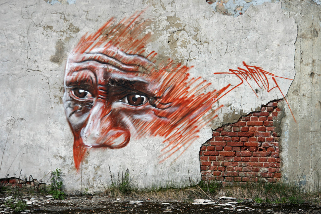 Street Art by Matt Adnate at the Kaserne Krampnitz - a former Nazi/Soviet Military base near Berlin