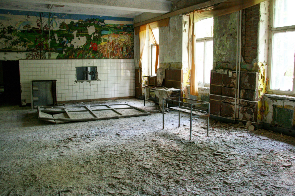 A room in the Kaserne Krampnitz - a former Nazi/Soviet Military base near Berlin