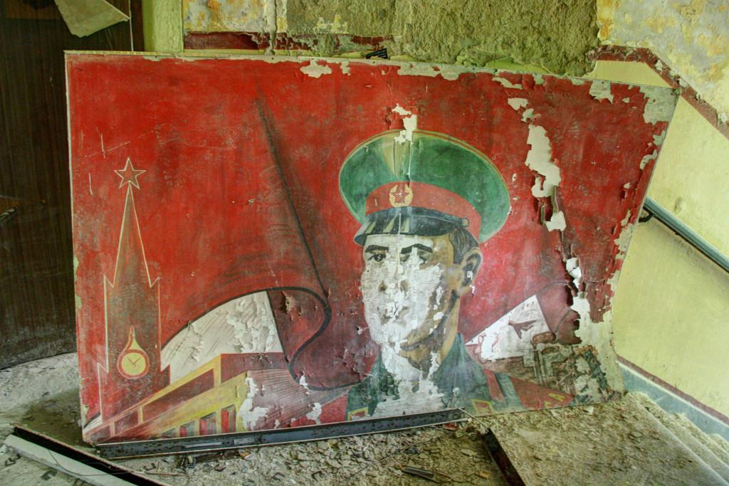 Soviet art in a staircase in the Kaserne Krampnitz - a former Nazi/Soviet Military base near Berlin