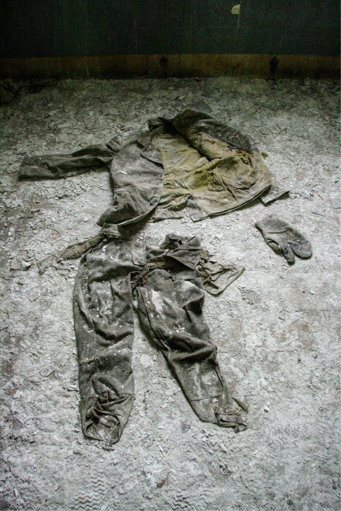 A uniform on the floor in the Kaserne Krampnitz - a former Nazi/Soviet Military base near Berlin