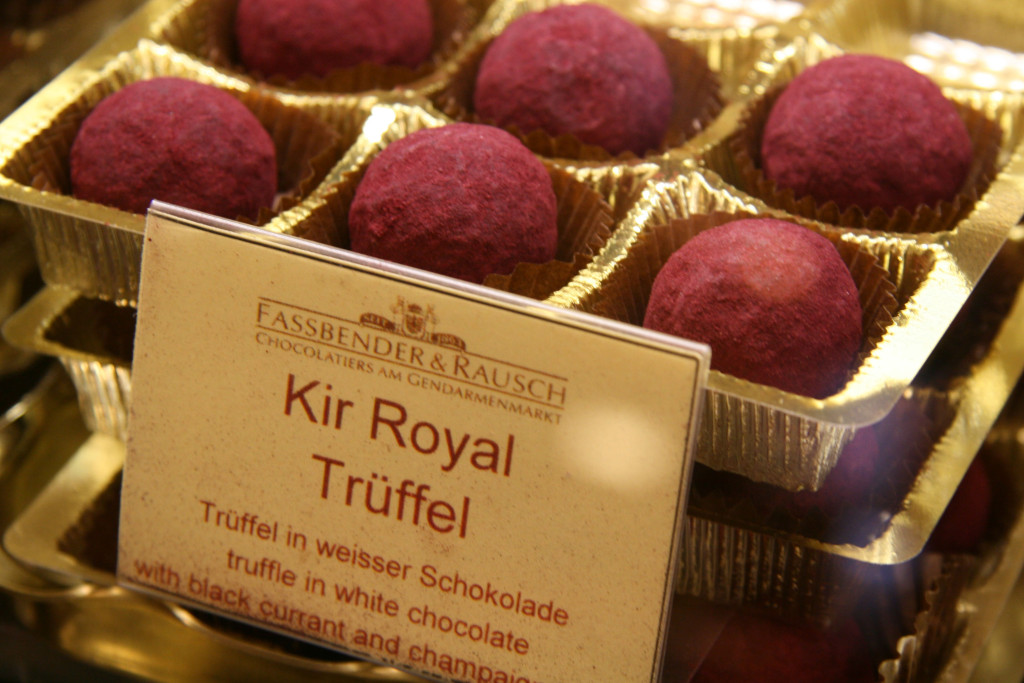 Kir Royal Trüffel (Truffles) at Fassbender & Rausch Chocolatiers on the Gendarmenmarkt in Berlin
