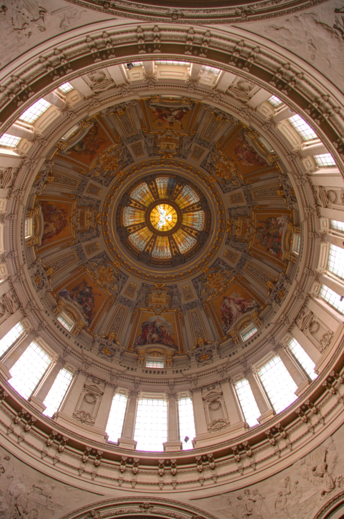 Looking up inside the dome of the Berliner Dom (Berlin Cathedral)