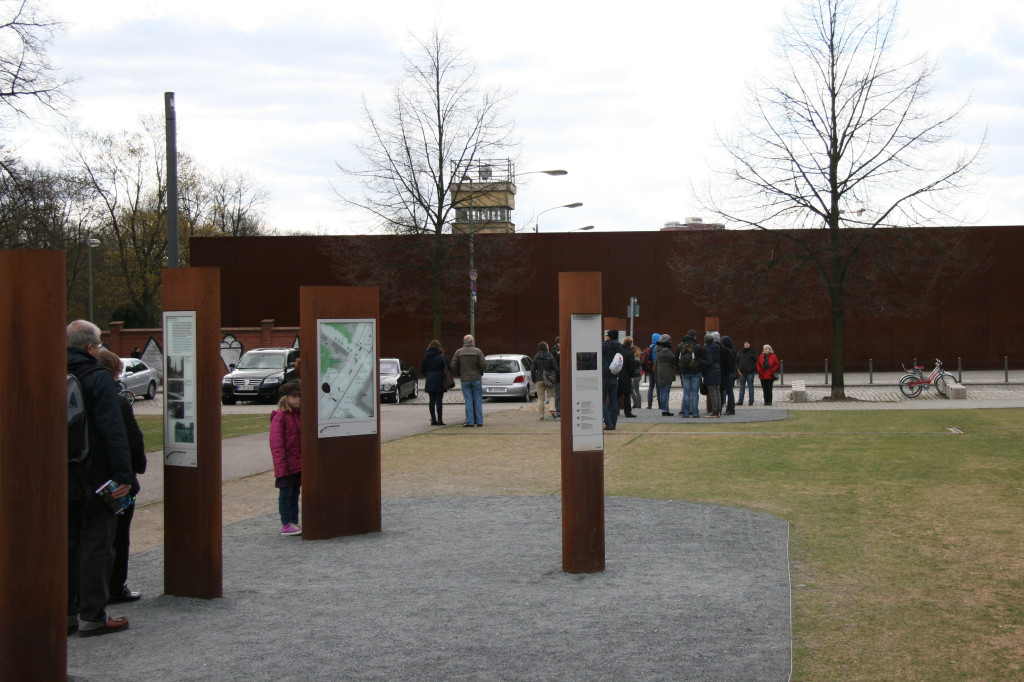 The Memorial Grounds and Audio Posts at Gedenkstätte Berliner Mauer (Berlin Wall Memorial) on Bernauer Strasse