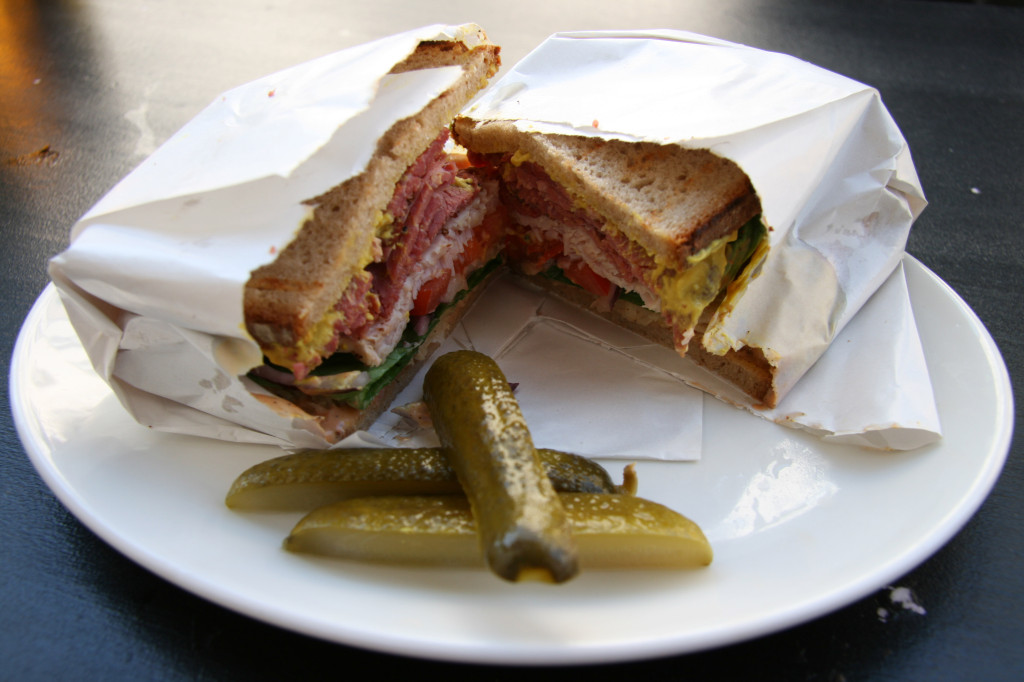 The Pastrami and Turkey sandwich at Ruben and Carla in Berlin