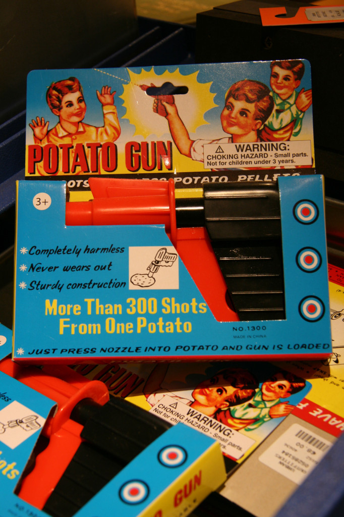 A Potato Gun or Spud Gun on sale at Urban Outfitters Ku'damm on Kurfürstendamm in Berlin