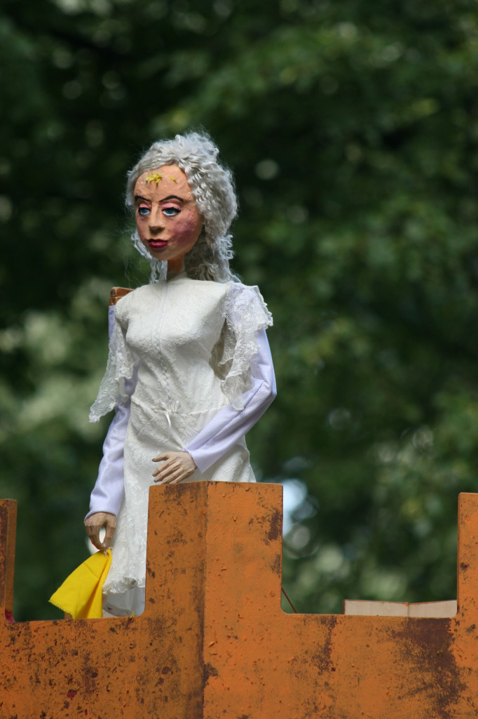 A Princess in the Tower puppet at Karneval der Kulturen (Carnival of Cultures) in Berlin