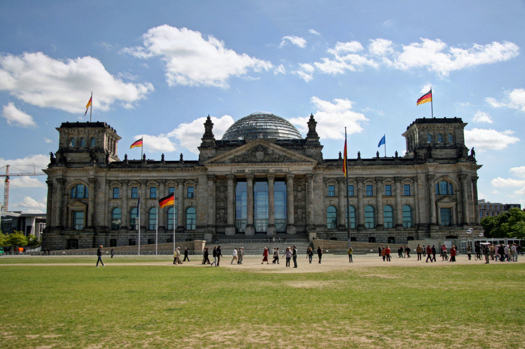 The Reichstag from the Platz der Republik in Berlin