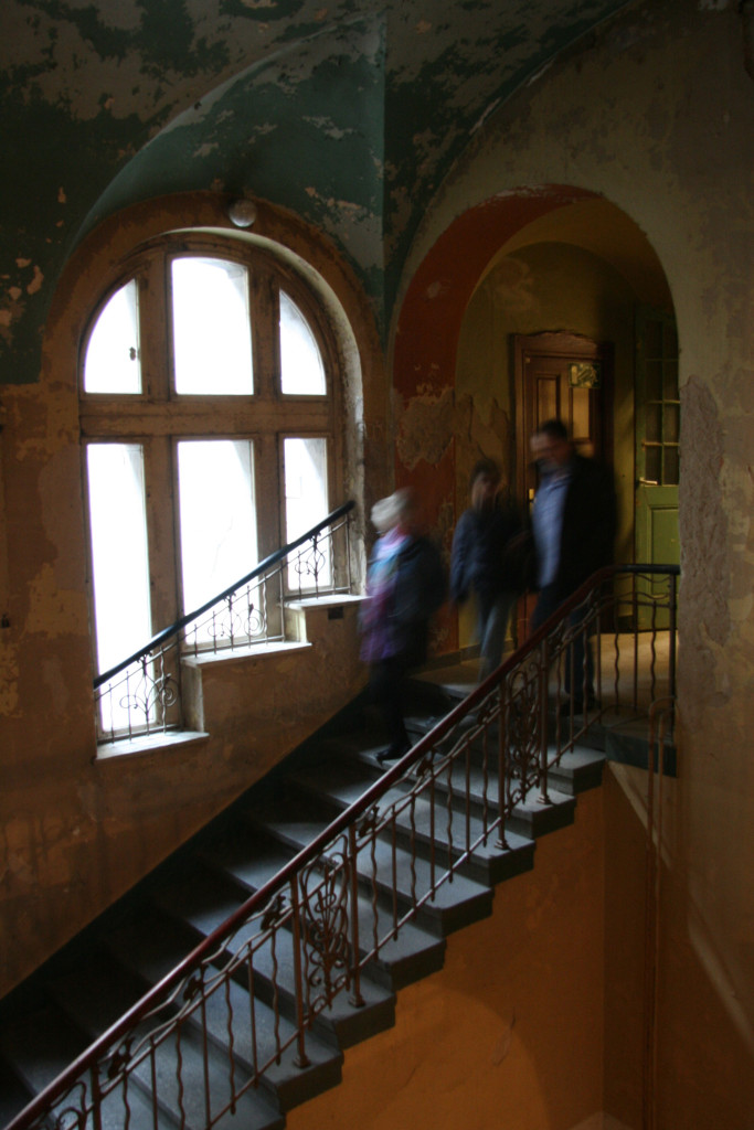 A staircase at Stadtbad Prenzlauer Berg in Berlin