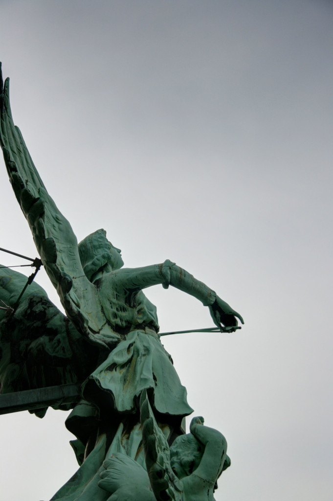 A statue on the roof of the Berliner Dom (Berlin Cathedral)
