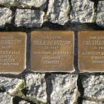 Stolpersteine 1: In memory of Hugo Harzopf, Paula Harzopf, Eva Harzopf (Schönhauser Allee 41) in Berlin