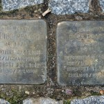Stolpersteine 11: In memory of Julius Prager and Rosa Prager (Strassburger Strasse 33-36) in Berlin
