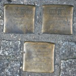 Stolpersteine 16: In memory of Alex Jastrow, Erna Jastrow, Thea Jastrow (Sandro – Rosenthaler Strasse 32) in Berlin