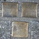 Stolpersteine 16: In memory of Alex Jastrow, Erna Jastrow, Thea Jastrow (Sandro – Rosenthaler Strasse 32) in Berlin