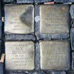 Stolpersteine 18: In memory of Herman Schneebaum, Jenny Schneebaum, Thea Schneebaum, Victor Schneebaum (Entrance to Die Hackesche Höfe – Rosenthaler Strasse) in Berlin