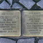 Stolpersteine 19: In memory of Jakob Bergoffen and Felli Bergoffen (Entrance to Die Hackesche Höfe - Sophienstrasse 6) in Berlin