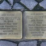 Stolpersteine 19: In memory of Jakob Bergoffen and Felli Bergoffen (Entrance to Die Hackesche Höfe - Sophienstrasse 6) in Berlin