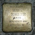 Stolpersteine 2: In memory of Regina Schrimmer (Auguststrasse 17) in Berlin