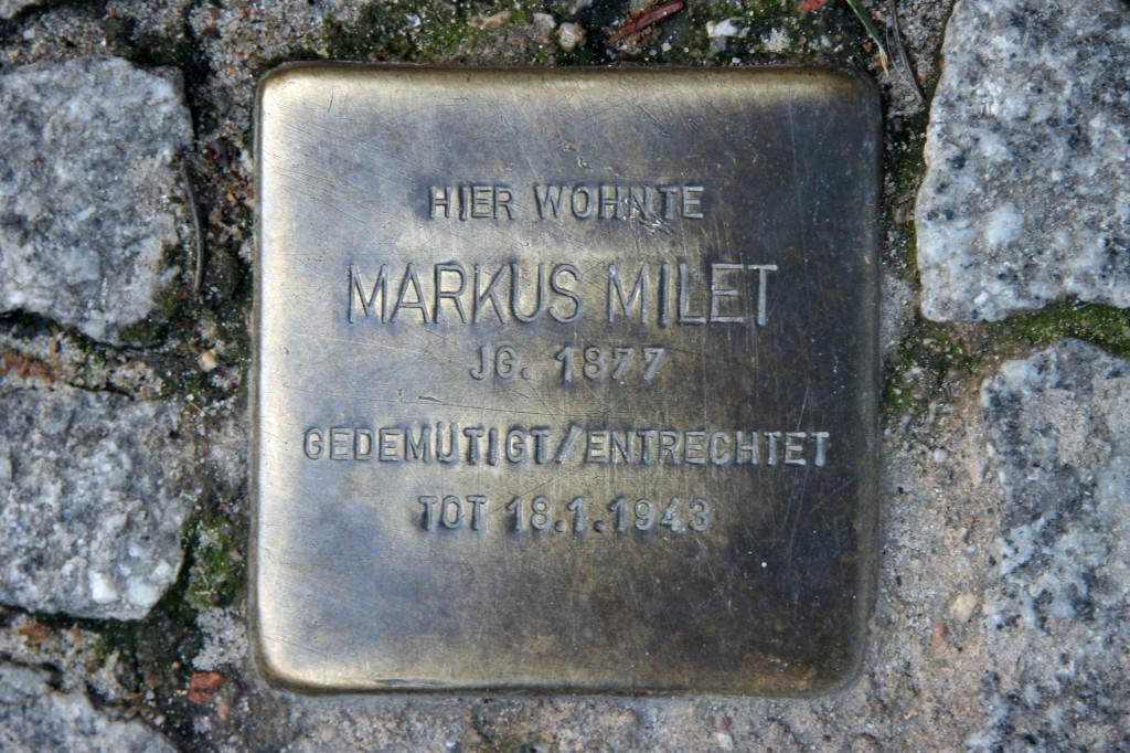 Stolpersteine 22: In memory of Markus Milet (Krausnickstrasse 17-18) in Berlin