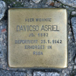 Stolpersteine 23: In memory of Davisco Asriel (Galeries Lafayette - corner of Friedrichstrasse and Jägerstrasse) in Berlin