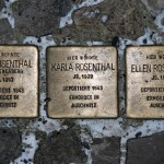 Stolpersteine 24: In memory of Irma Rosenthal, Karla Rosenthal and Ellen Rosethal (Neue Schönhauser Strasse 12) in Berlin