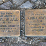 Stolpersteine 28: In memory of Dr Walter Glaser and Gertrud Glaser (Heinrich-Roller-Strasse 23) in Berlin