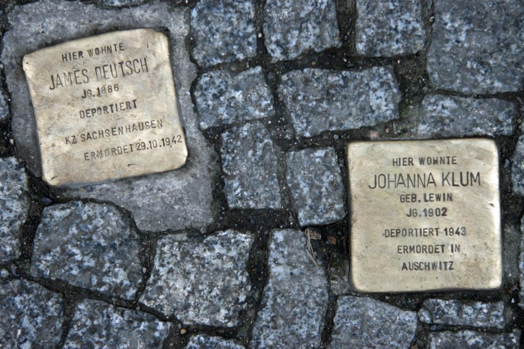 Stolpersteine 32: In memory of James Deutsch and Johanna Klum (Grosse Hamburger Strasse 31) in Berlin