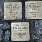 Stolpersteine 33 (3) In memory of Max Raesener, Meta Raesener and Asta Raesener (Grosse Hamburger Strasse 30) in Berlin
