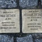 Stolpersteine 33 (4): In memory of Max Sittner and Melanie Sittner (Grosse Hamburger Strasse 30) in Berlin