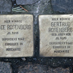 Stolpersteine 34 (2): In memory of Alice Rosenberg and Gertrud Rosenberg (Grosse Hamburger Strasse 29)