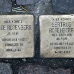 Stolpersteine 34 (2): In memory of Alice Rosenberg and Gertrud Rosenberg (Grosse Hamburger Strasse 29)