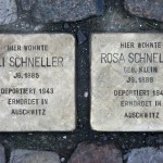Stolpersteine 34: In memory of Eli Schneller and Rosa Schneller (Grosse Hamburger Strasse 29) in Berlin