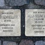 Stolpersteine 34: In memory of Eli Schneller and Rosa Schneller (Grosse Hamburger Strasse 29) in Berlin