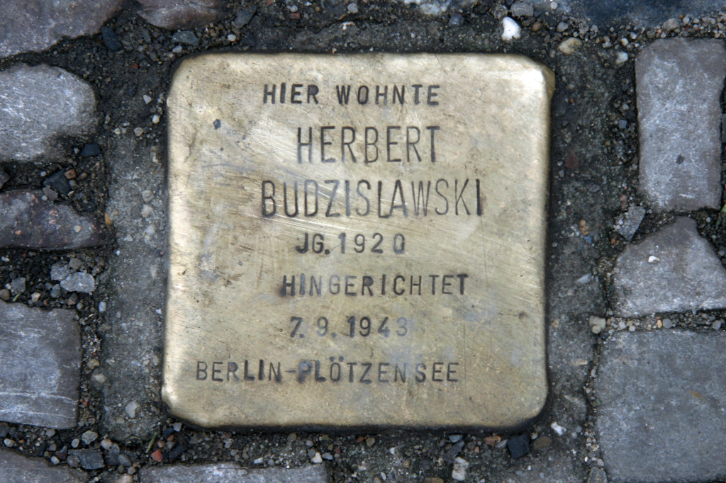 Stolpersteine 35: In memory of Herbert Budzislawski (Nail Art Mitte – Grosse Hamburger Strasse) in Berlin